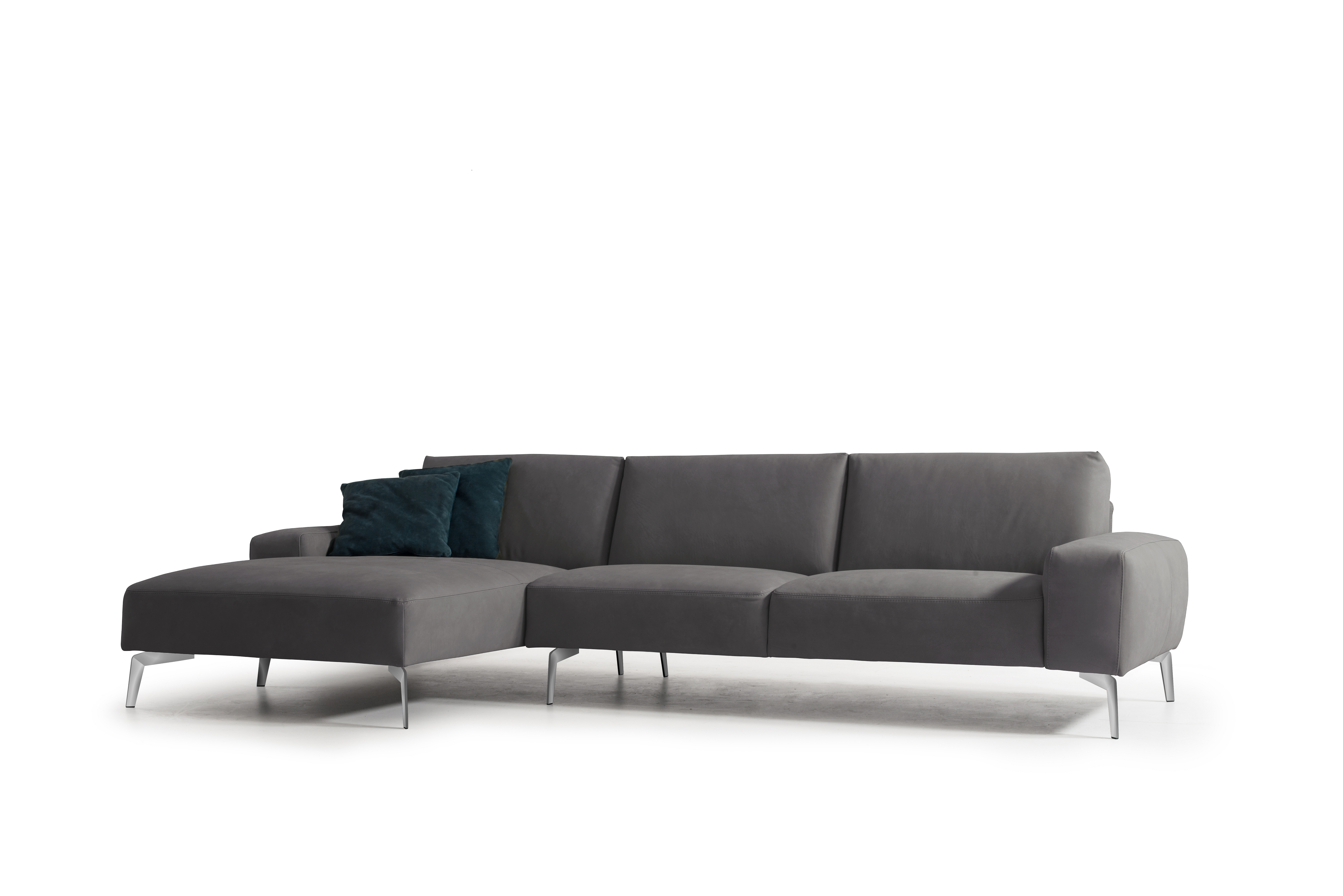 Negramaro Dark Gray Italian Sectional| Whiteline