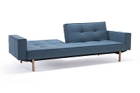 Splitback Sofa with Arms, Dark Wood | Innovation USA