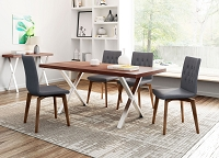 Zuo Modern Orebro Dining Chair Graphite Set of 2