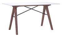 Saints Desk in Walnut and White | Zuo