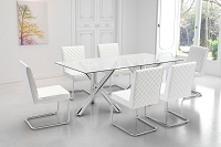 Zuo Modern Quilt Armless Dining Chair White Set of 2