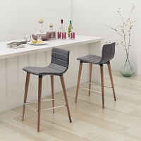 Zuo Modern Jericho Counter Chair Gray Set of 2