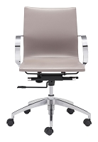 Glider Low Back Office Chair in Taupe | Zuo