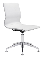 Glider Conference Chair in White | Zuo