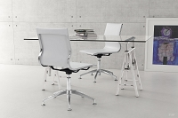 Glider Conference Chair White | Zuo Modern