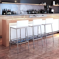 Zuo Modern Marina Barstool White Set of 2