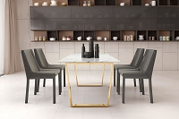 Zuo Modern Fashion Dining Chair Gray Set of 2