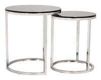 Rem Coffee Tables in Black and Stainless Steel | Zuo