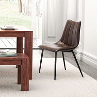 Zuo Modern Norwich Dining Chair Brown Set of 2
