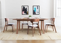 Zuo Modern Russell Dining Chair Walnut Gray Set of 2