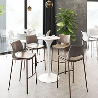Zuo Modern Dylan Bar Table White