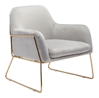 Nadir Arm Chair in Gray | Zuo