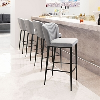 Zuo Modern Tolivere Bar Chair Gray Set of 2