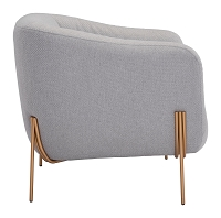 Micaela Arm Chair in Gray and Gold | Zuo