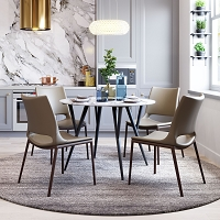 Zuo Modern Ace Dining Chair Gray Walnut Set of 2