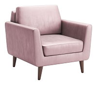 Mirabelle Arm Chair in Pink | Zuo