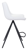 Aki Counter Chair in White and Black set of 2 | Zuo