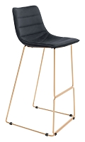 Adele Bar Chair in Black and Gold | Zuo