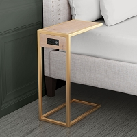 Zuo Modern Ike Side Table Brown Gold