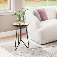 Zuo Modern Foley Accent Table Gold Black