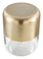 Cannon Side Table in Gold and Clear | Zuo