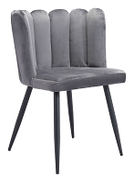 Adele Chair in Dark Gray set of 2 | Zuo