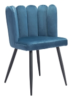 Adele Chair in Steel Blue set of 2 | Zuo
