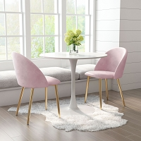 Zuo Modern Cozy Dining Chair Pink Set of 2