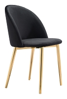 Cozy Dining Chair in Black set of 2 | Zuo