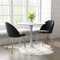 Zuo Modern Cozy Dining Chair Black Set of 2