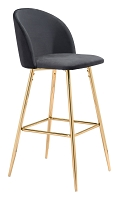 Cozy Bar Chair in Black | Zuo
