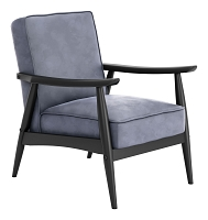 Rocky Velvet Arm Chair in Gray | Zuo