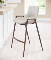 Zuo Modern Desi Counter Chair Beige Set of 2