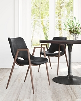 Zuo Modern Desi Dining Chair Black Set of 2