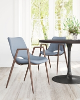 Zuo Modern Desi Dining Chair Gray Set of 2