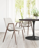 Zuo Modern Desi Dining Chair Beige Set of 2