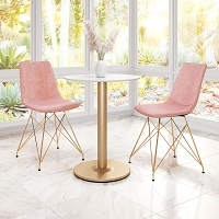 Zuo Modern Parker Dining Chair Pink Set of 4