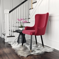 Zuo Modern Paulette Accent Chair Red