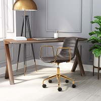 Eric Office Chair Brown | Zuo Modern