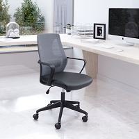 Zuo Modern Skyrise Office Chair Gray Black