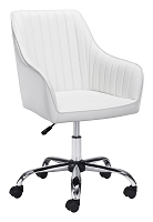 Curator Office Chair in White | Zuo