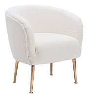 Zuo Modern Sherpa Accent Chair Beige Gold