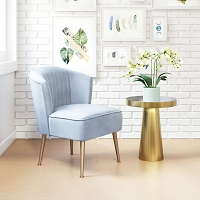 Zuo Modern Andes Accent Chair Blue Gold