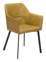 Zuo Modern Loiret Dining Chair Yellow Set of 2