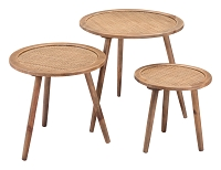 Zuo Modern Paul Accent Tables Natural Set of 3