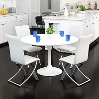 Zuo Modern Delfin Dining Chair White Set of 2