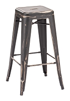 Marius Barstool in Antique Black Gold set of 2 | Zuo