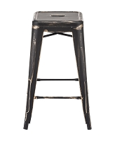 Marius Counter Stool in Anti Black Gold set of 2 | Zuo