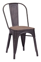 Elio Dining Chair in Rustic Black set of 2 | Zuo