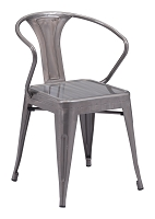Helix Dining Chair in Gunmetal set of 2 | Zuo